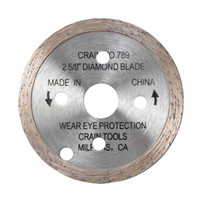 Crain 789 2-5/8 in. Diamond Blade for Toe-Kick Saw Continuous rim, dry-cutting diamond blade, For undercutting ceramic tile, brick, concrete, stone, marble, or granite
