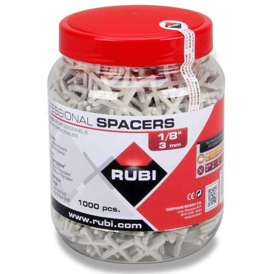 Rubi 1/8 inch Leave-in Spacers - 1,000 Piece Jar