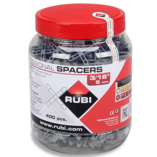 Rubi 3/16 inch Leave-in Spacers - 400 Piece Jar