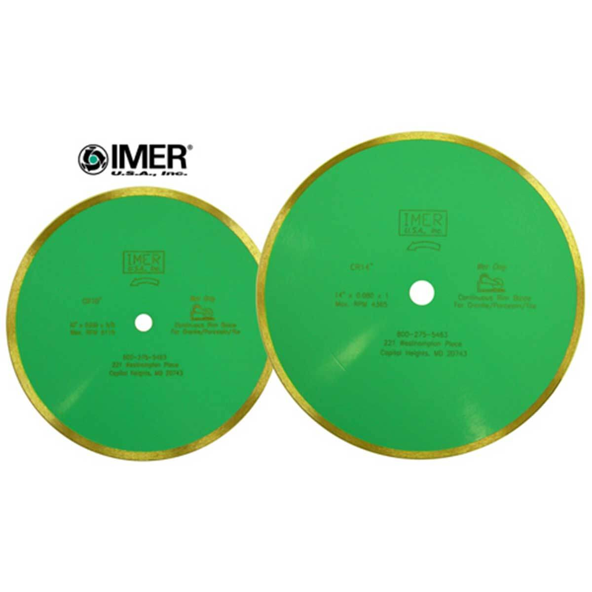 imer cr porcelain wet diamond blades
