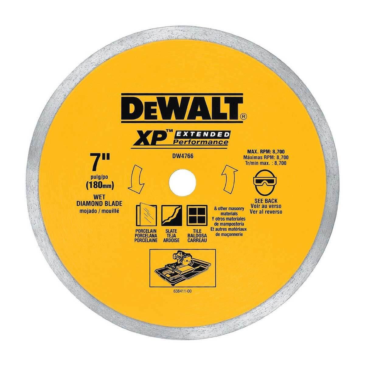 Dewalt dw4766 7 inch tile saw blade contractors direct dewalt 7in porcelain diamond blade greentooth Gallery