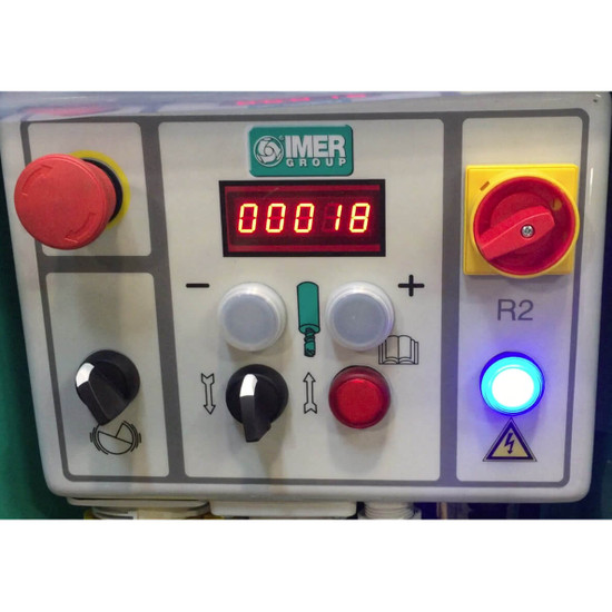 Imer grout pump control panel