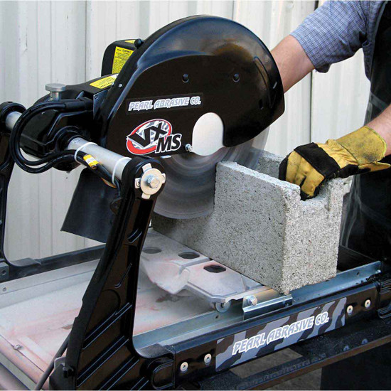 VX141MS Pearl Masonry Saw Cutting Cinder Block