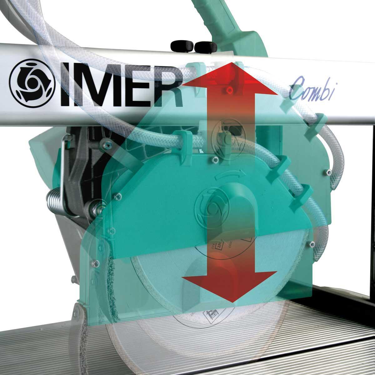 Imer Combi rail saw plunge cut capability