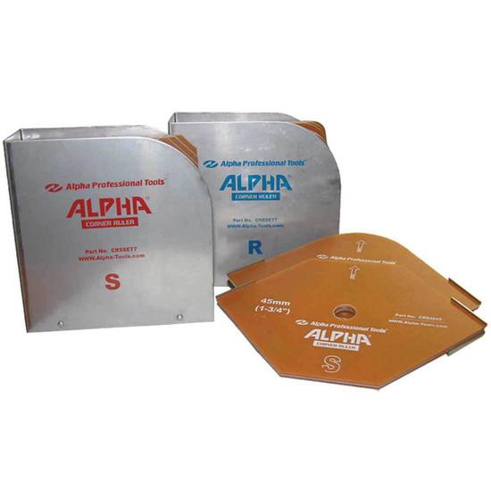 Alpha Radius Corner Ruler Guides