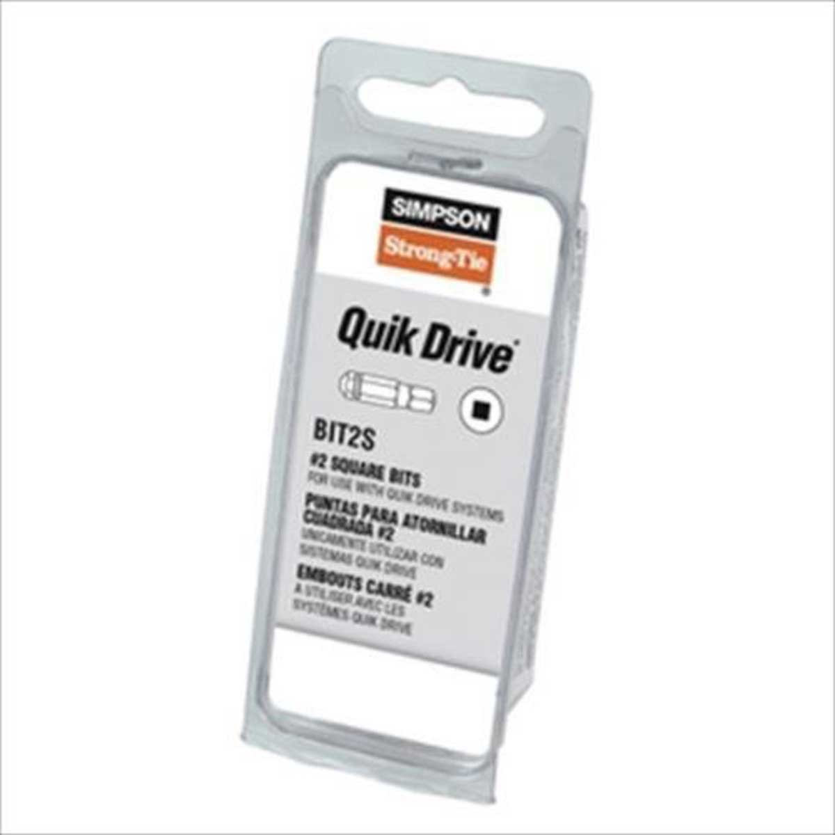 Bit2S-RC3 Quik Drive 3 each #2 Square Drive Bit Kit