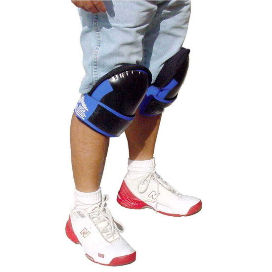 Troxell Large Leather Kneepads In Use