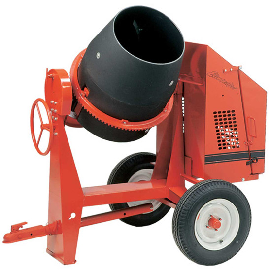 Crown C6 Towable Poly Concrete Mixer Polymer drum is virtually unbreakable