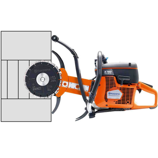 Husqvarna K760 Cut-n-Break Cutting Depth