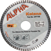alpha 4in katana dry tile blade