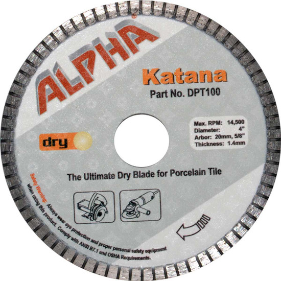alpha 4in katana dry tile blade