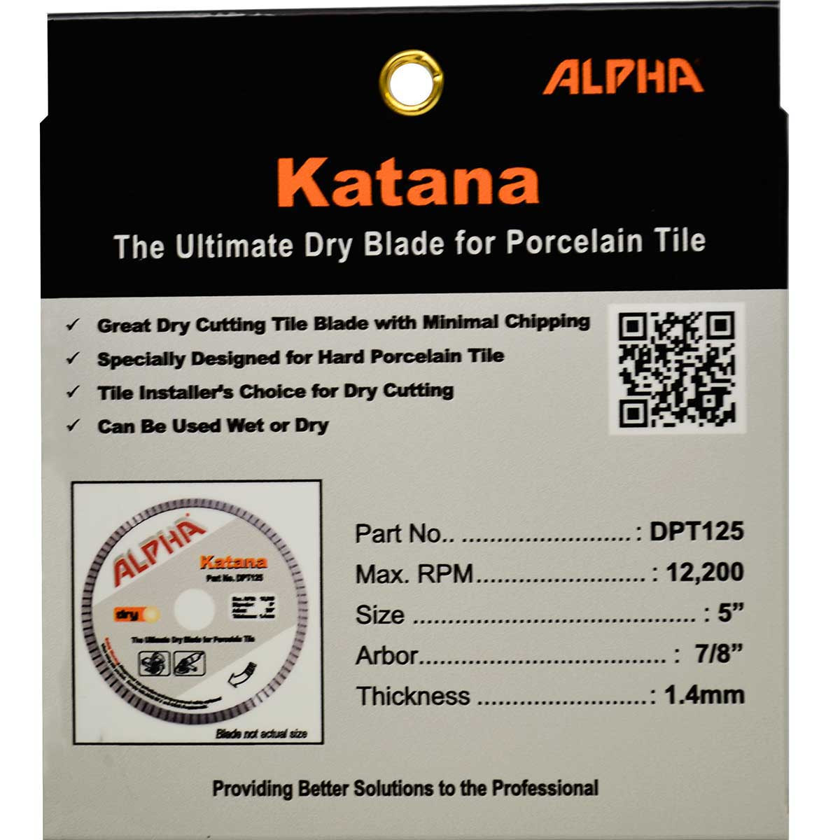 alpha 5in katana dry tile blade package