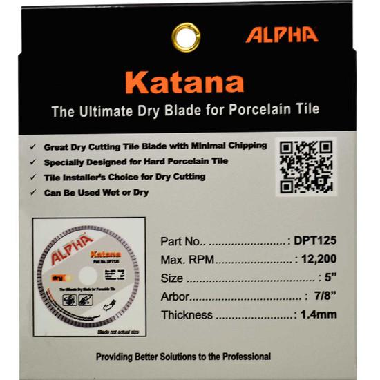 alpha 5in katana dry tile blade package