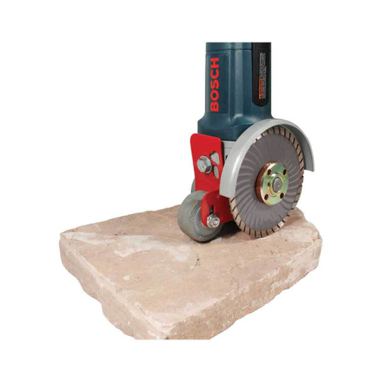 Pearl Abrasive Roller Caddy Attachment for Angle Grinders cutting stone with dry cutting diamond blade