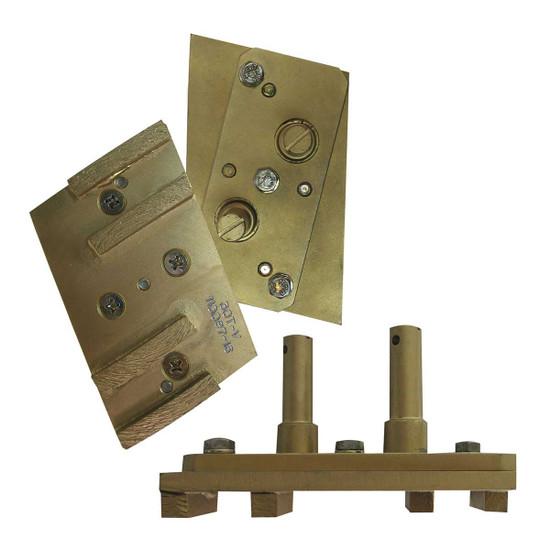 Pearl Abrasive Hexplate Diamond Pads Complete Assembly HEX4SEG-MFD