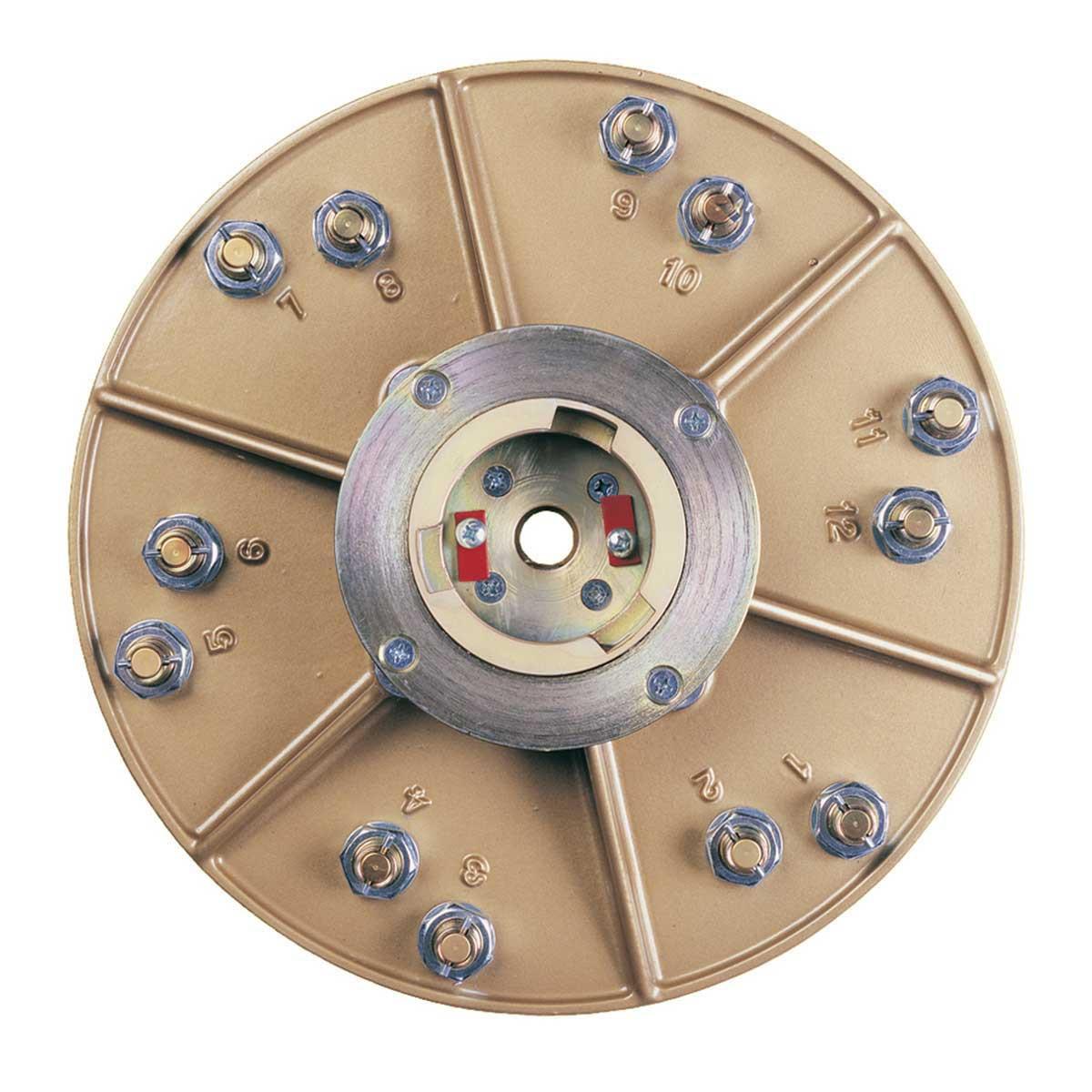 Pearl abrasive hexpin plate holder