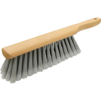 15434 Marshalltown Silver Foxtail Duster Brush clean-up jobs. trim, gray natural tampico blend fibers and wood beaver-tail block with hanging hole