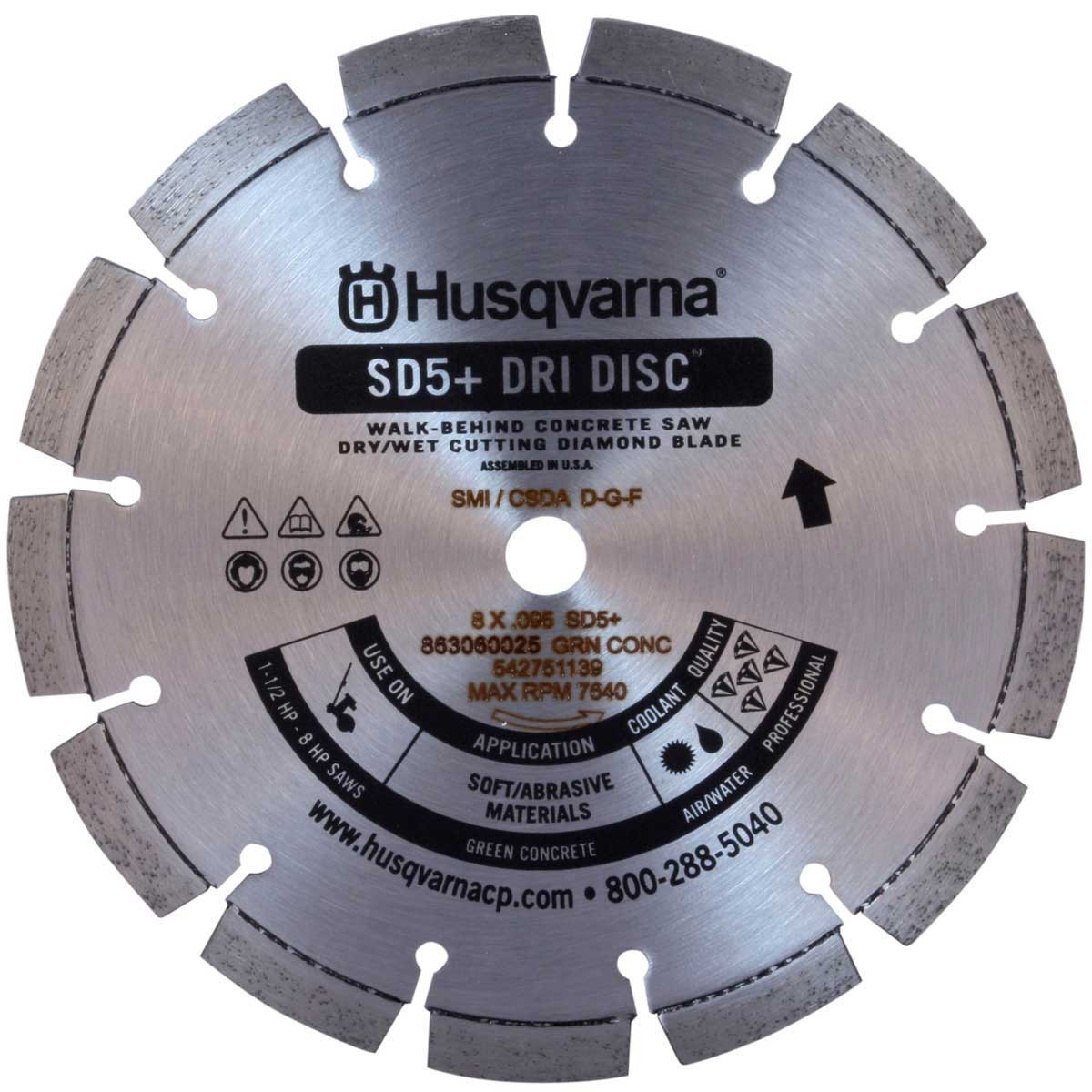 Husqvarna SD5+ Green Concrete Diamond Blade