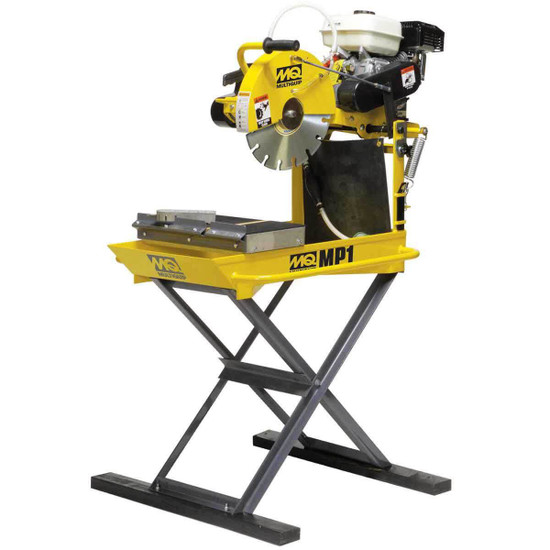 masonpro 14in saw steel frame minimize vibrations