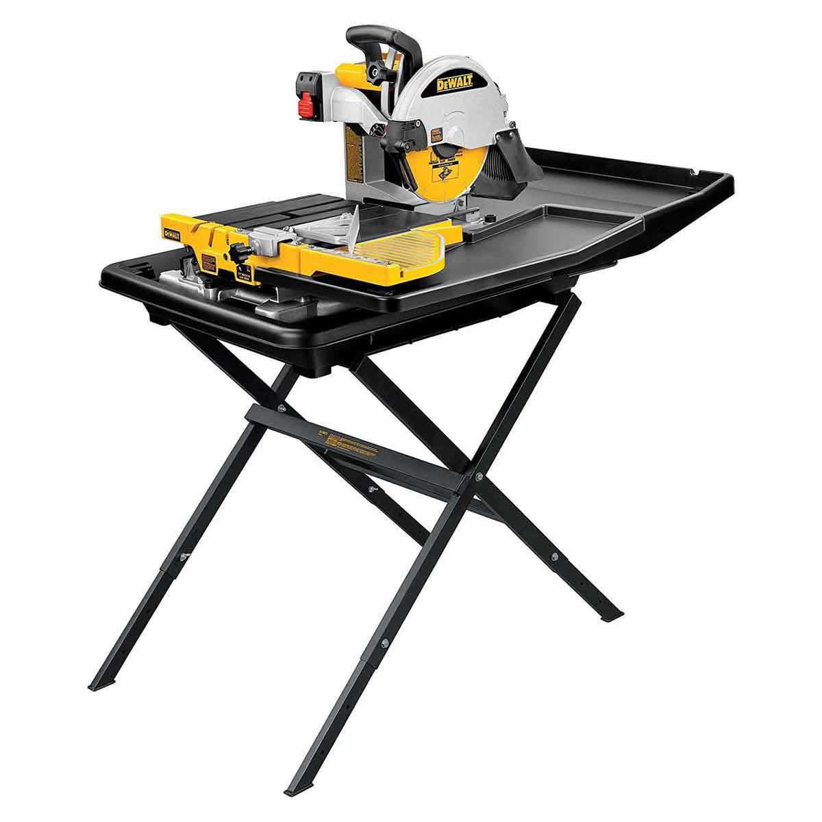 Dewalt D24000 wet tile saw and stand