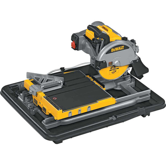 Dewalt D24000 saw sitting in water pan