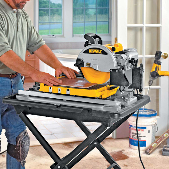 Dewalt D24000 wet saw indoors