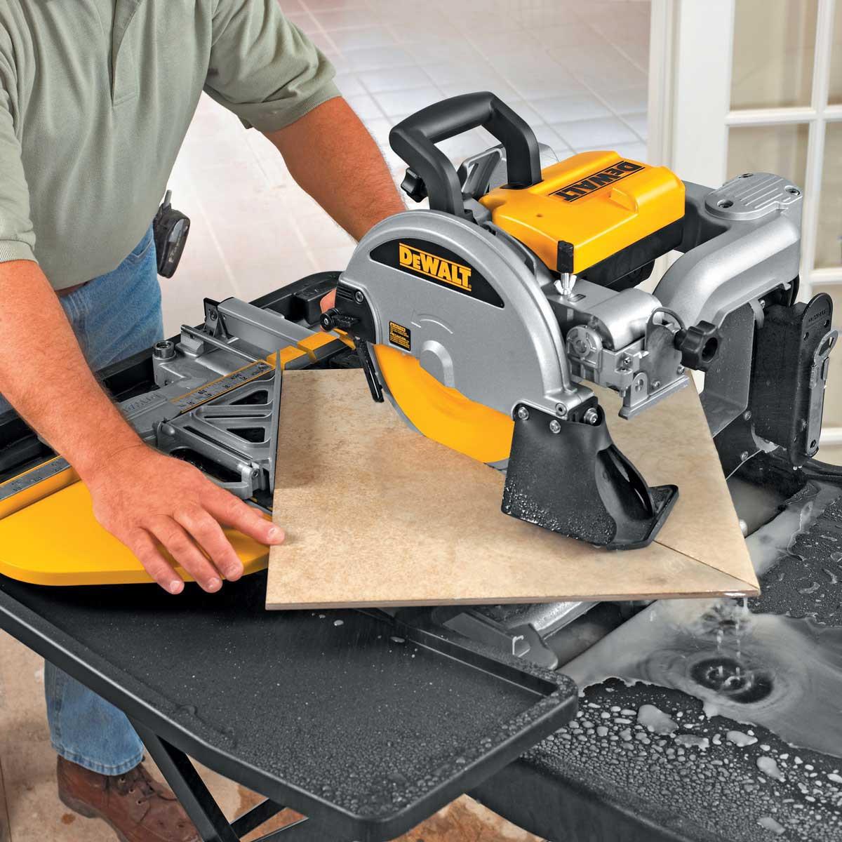 diagonal cut with d24000 tile saw