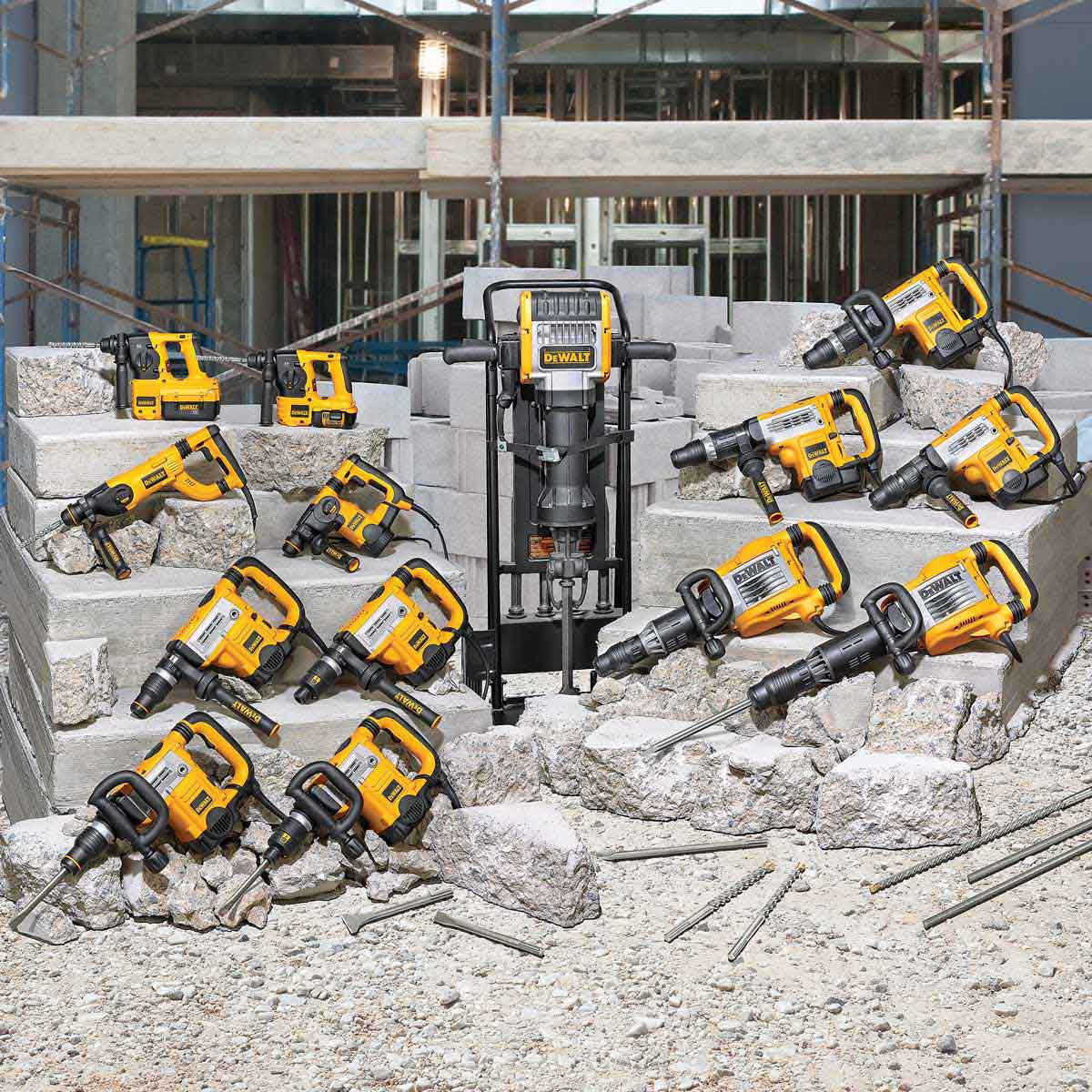 Dewalt concrete hammer group