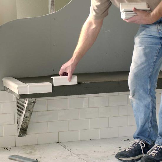 Innovis Custom Tile Shower Bench