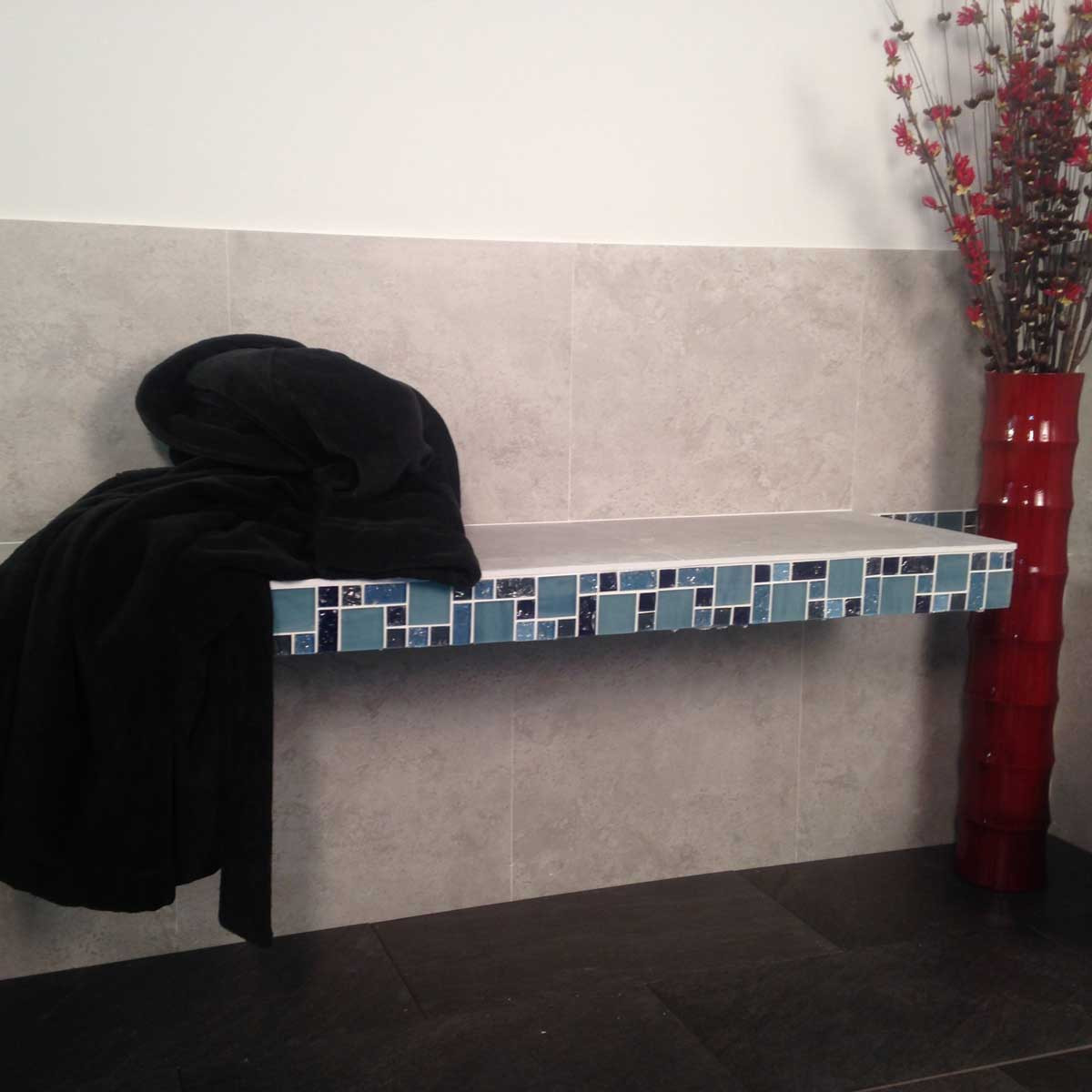 Pre-formed Shower Bench