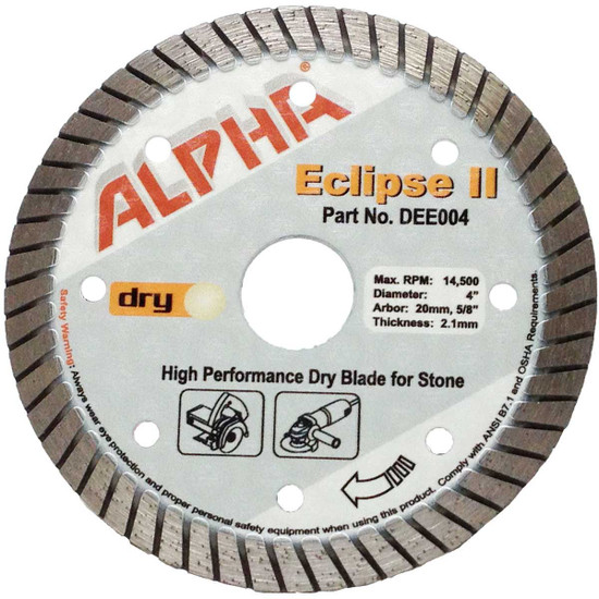 alpha eclipse 4in granite diamond blade