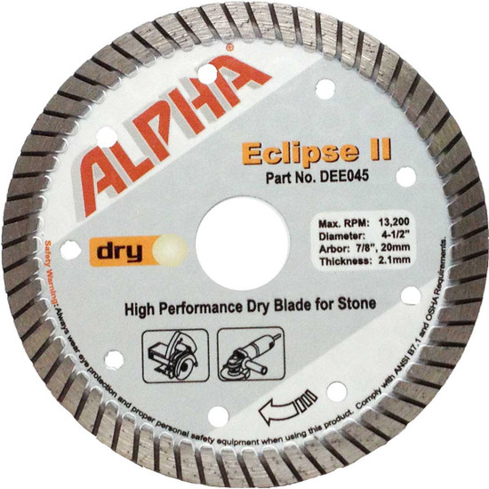 alpha eclipse 4 1/2in granite diamond blade