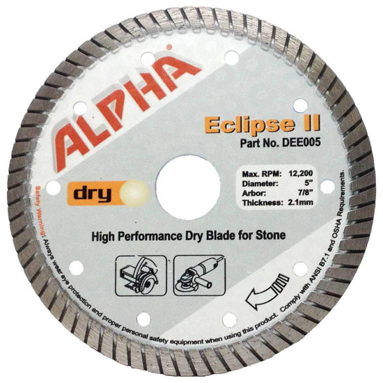 alpha eclipse 5in granite diamond blade