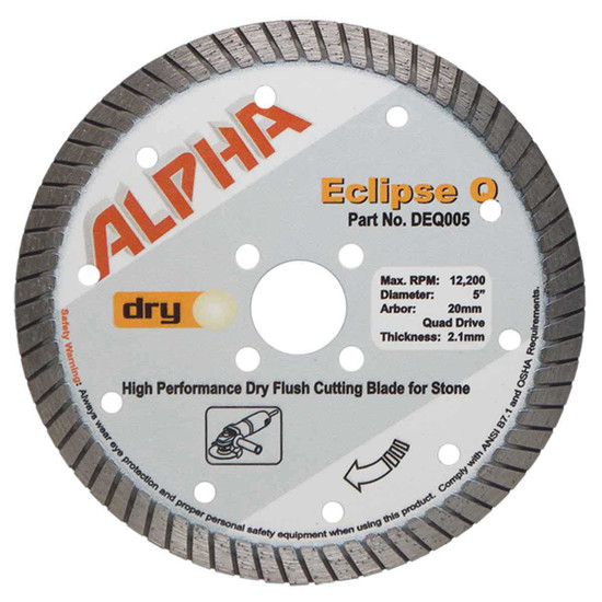 alpha eclipse q 5in granite diamond blade