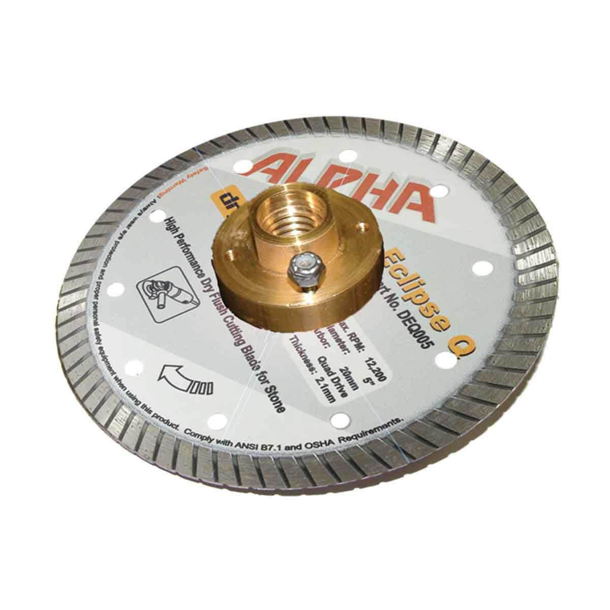 alpha eclipse granite diamond blade with quad adapter