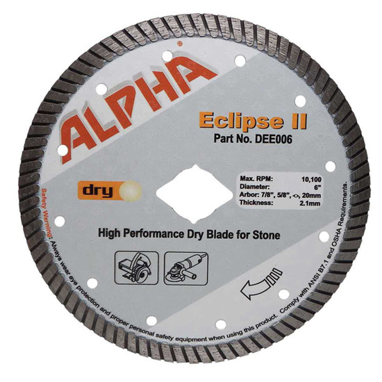alpha eclipse 6in granite diamond blade