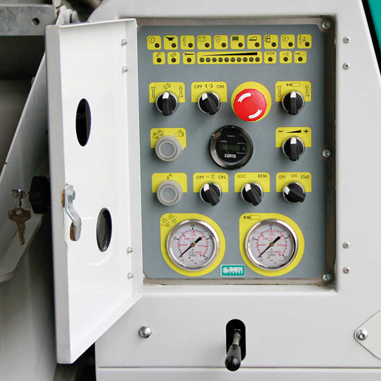 Imer Spray Grout pump control panel