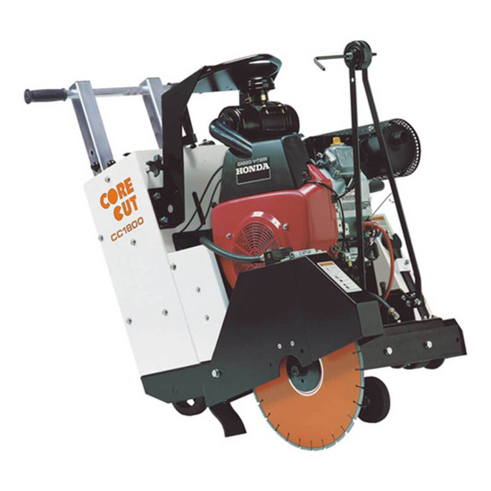 Core Cut CC1800XL Self-Propelled Concrete Saw