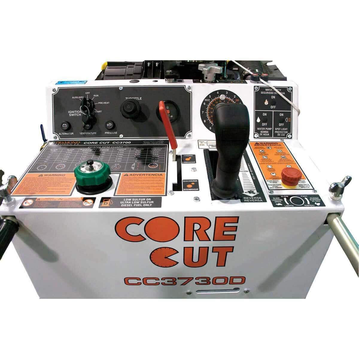 CoreCut CC3700 concrete saw console