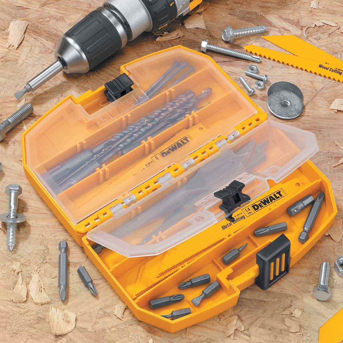 dewalt case with drill bits