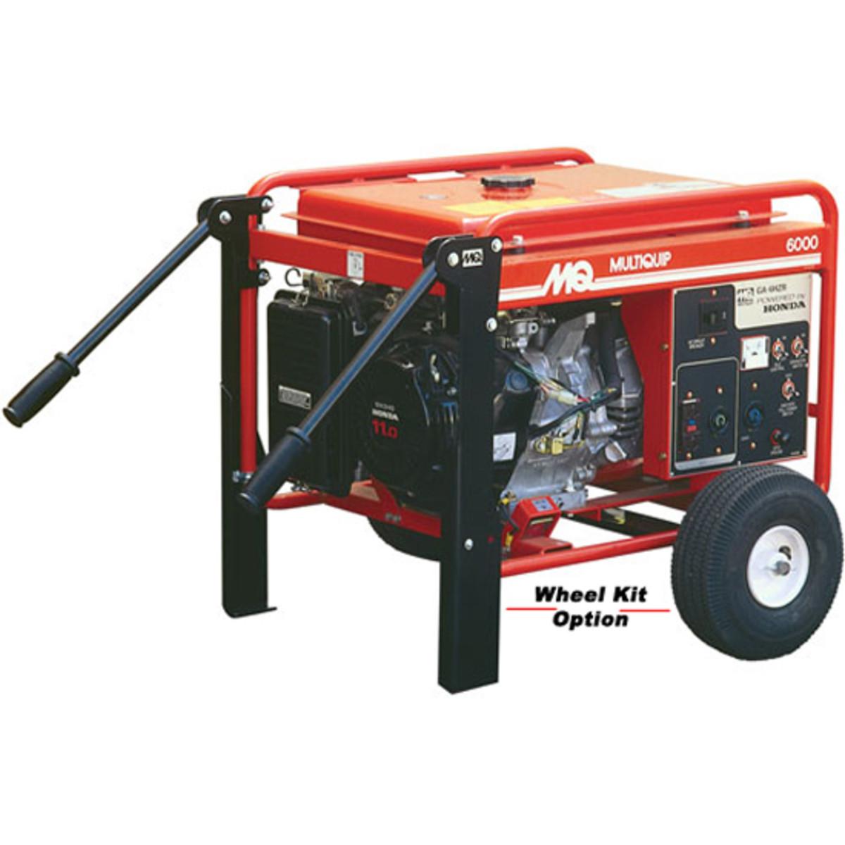 multiquip GA series generator with wheel kit