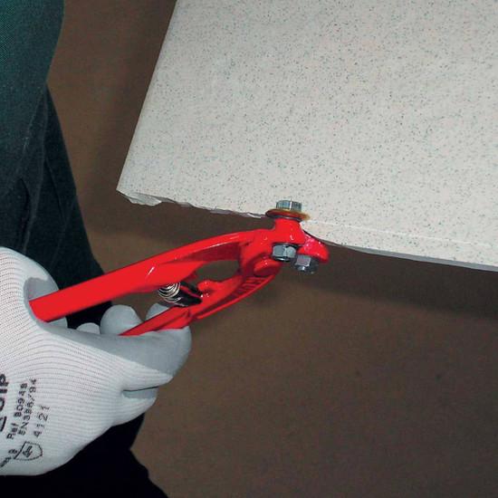 rubi wheeled tile nipper cuts tile