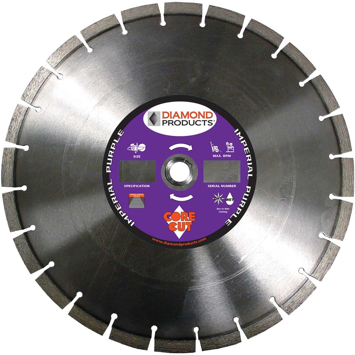 Core Cut Imperial Purple Dry Diamond Blades