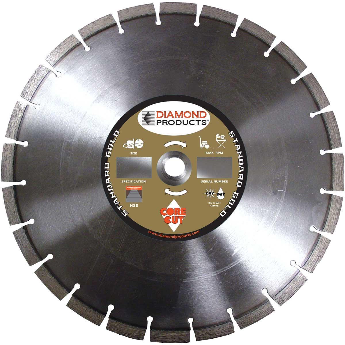 Core Cut H8S Standard Gold Dry Diamond Blade