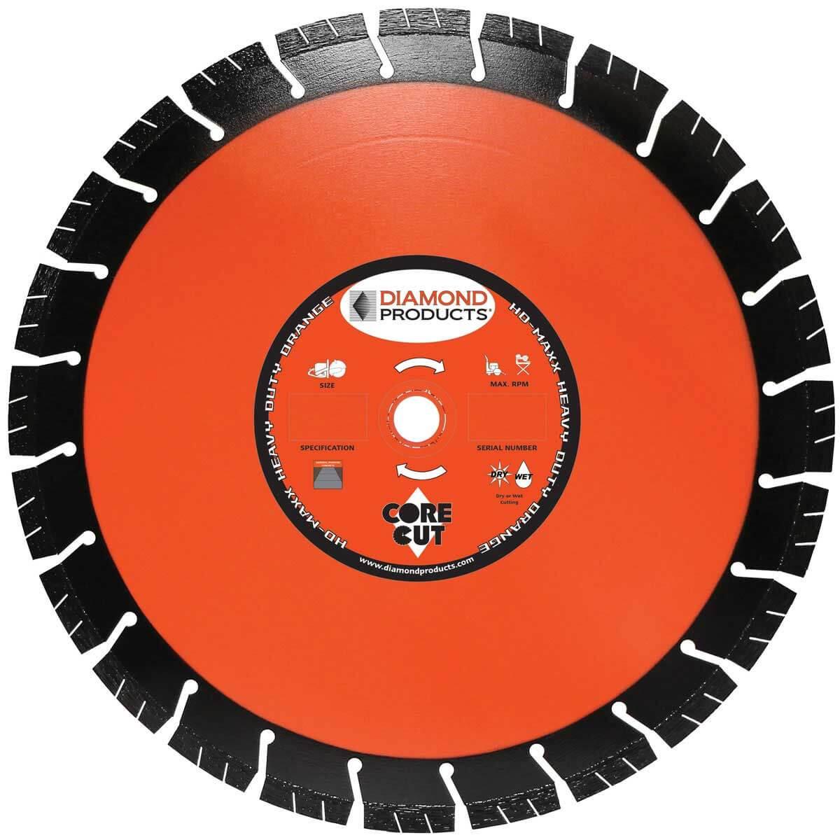 Core Cut Heavy Duty Orange MAXX Diamond Blade