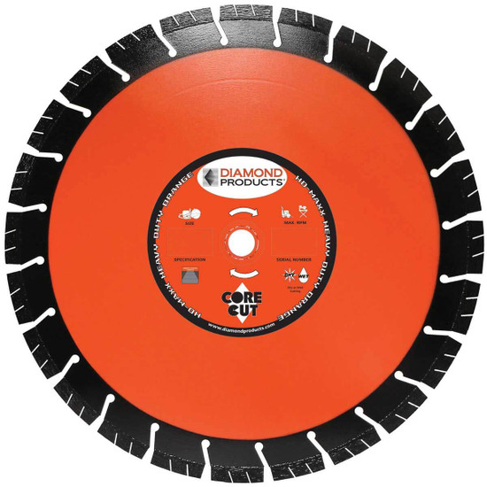 Core Cut Heavy Duty Orange MAXX Diamond Blade