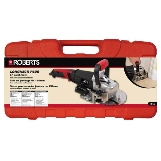 Roberts by QEP 10-56 Long Neck Plus 6 in. Jamb Saw carrying case