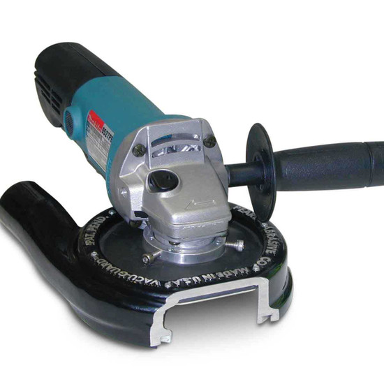 Pearl Vacu-Guard Dust Shroud on Angle Grinder