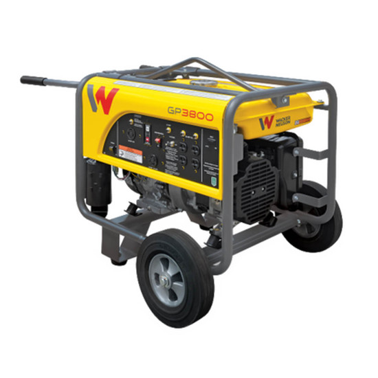 Wacker GP3800A Premium Portable Generator with Wheel Kit