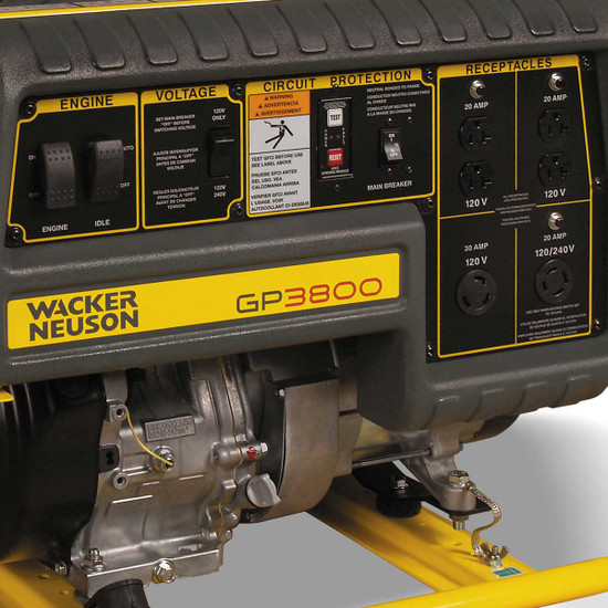 Wacker GP3800A Generator Control Panel
